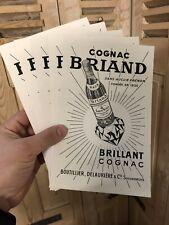 Lot de 5 Buvard Cognac Briand Publicité Alcool Ancien