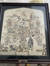More details for antique picture - 18th century history of sussex - framed