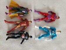 Lot 5 Marvel Die Cast & Plastic 3 Metal Action Figures Iron man Captain America