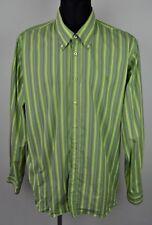 GAASTRA Shirt Mens 3XL Cotton Casual Green Long Sleeve Hiking Polo Herren Hemd