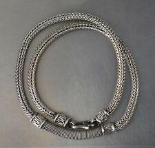 Estate Necklace 17-17.75 49g x14 CrazieM 925 Silver Vintage Southwest