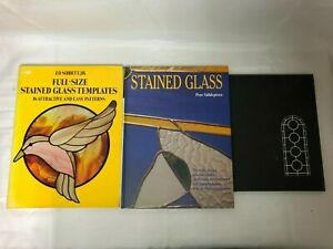 3 Stained Glass Books Robert Sowers The Lost Art Full Size Templates 16 Patterns