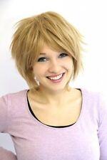 Prettyland Fransige blonde Kurz-Haar Perücke Hippie Pixie Damen Herren C297
