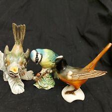 Goebel Birds x2 &  Beswick Blue Tit 992 Three bird Figurines W Germany & england