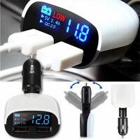 2Port USB LED Prise Voiture Chargeur Cigare Allume Adaptateur Pour Téléphone NF