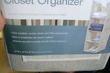 SIMPLIFY 10 SHELF CLOSET ORGANIZER SHOES PURSES CLOTHES  LINEN NIP