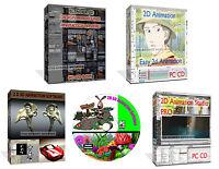 2D 3D Graphics Animation Image Editor Create Cartoons Software + BONUS