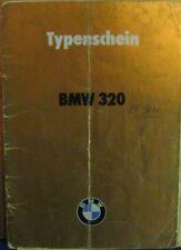 * BMW 320 M60  E21 Österreichischer Typenschein 1981  SAMMLER *