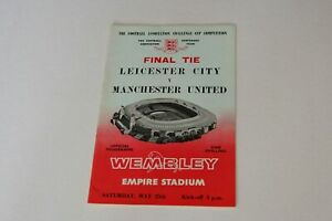 FA CUP FINAL LEICESTER C v MANCHESTER UTD (1963) PROGRAMME (EXCELLENT)