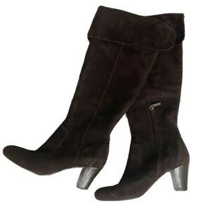 Bandolino Brown Suede Knee High Heeled Womens Boots - Sz 8 M