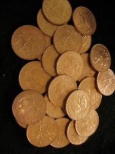 Ghana Pesewa 1967 red  CH BU lot of 25 BU coins