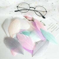 20 Mixed Soft Pastel Coupe Feather Heads, Millinery, Crafts, Brand New. UK
