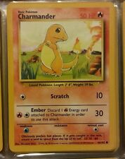 CHARMANDER 46/102-#4- 1999 Pokemon Card   BASE SET  With Rigid Card Protector