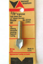"""3/8"""" V GROOVE ROUTER BIT VERMONT AMERICAN 22104 Factory Sealed SHIPS WORLDWIDE!"""