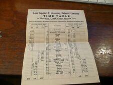 Lake Superior & Ishpeming Railroad Timetable -4/1/1946