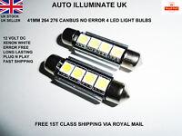 2x 41mm LED Car Festoon Canbus 264 270 White Number Plate Light Bulbs Lamp 12v
