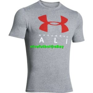 NEW Under Armour Mens UA x Muhammad Ali Collection Sportstyle T-Shirt Tee Gray S