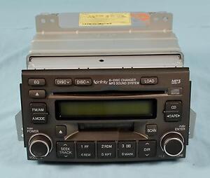 06 07 08 Hyundai Azera Stock Am/Fm Cassette 6 Disk CD Stereo 96190-3L100B9