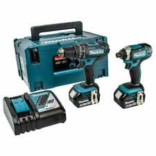 Makita 18v Cordless Twin Pack DLX2131TJ With 2 x 5.0Ah Batteries, Charger, Case