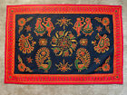 Handmade Embroidered Colorful Tribal Ethnic Linen Tablecloth Wall Hanging Decor