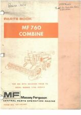Nice Mf 788 Combine Operators Instruction Book Agriculture/farming
