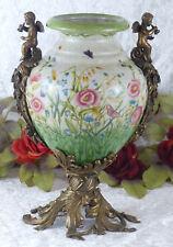 Porzellanvase Engel Prunkgefäß Porzellan Pokal Bronze Vase Amphore Craquele Neu