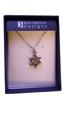 Star of David with Cross Pendant Necklace Bob Siemon Designs