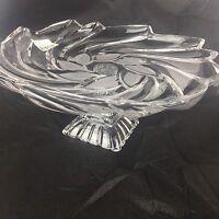 Mikasa Amborse Footed Plate Crystal Serving Platter Tray Pedestal Dish New