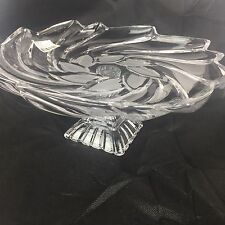Mikasa Amborse Footed Plate Crystal Serving Platter Tray Pedestal Dish New