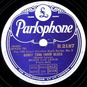 Meade Lux Lewis 78 Honky Tonk Tren Blues / Jess Stacy -barrelhouse Parl R2187 E