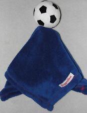 Rugged Bear Blue Soccer Ball Baby Security Blanket Football Futbol Fleece Lovey