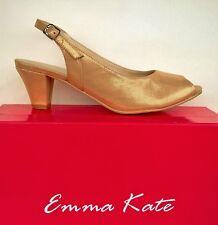 Open toe leather sling back heels- Emma Kate shoes Engage