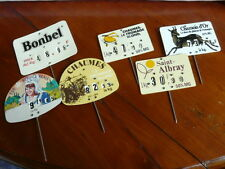 6 Vintage French cheese maker ADVERTISSING PRICE LABEL