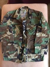US MILITARY ARMY CAMO CAMOUFLAGE JACKET USED Size Small Short