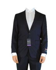 Austin Reed Mens Regular Fit Navy Herringbone Suit Jacket Long Sleeve Top Coat 44 Regular