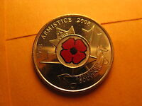 CANADA 2008 ARMISTICE 90TH ANNIVERSARY COIN REMEMBRANCE DAY POPPY  25 CENT COIN