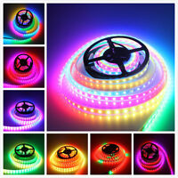 WS2812B 5M 300 leds 5050 RGB LED Strip Light Individual addressable Waterproof