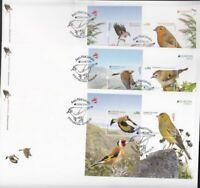 CEPT Portugal Azoren Madeira    2019 MNH** Bird Block Set FDC
