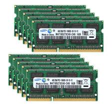 10pcs Samsung 4GB 2rx8 DDR3 1333 MHz PC3 10600S 204PIN Memória Ram Notebook Sodimm