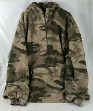 3XL Tall Cabela's Camo Quiet Berber Fleece Wind Pullover Thick Hunting Jacket