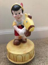 "Vintage Schmid Walt Disney Productions Pinocchio Music Box ""When You Wish Star'"