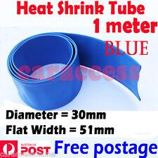 Heat Shrink tube Heatshrink tubing Sleeving blue 30mm 1meter  AU STOCK