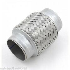 Stainless Steel Exhaust Flexible Pipe 55mm x 150mm Flexi Repair Joint Flexipipe