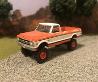 1969 Chevy K10 K20 4x4 Lifted Custom 1/64 Diecast Truck Farm Off Road 4WD Mud