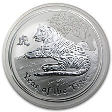 2010 Australia 10 oz Silver Year of the Tiger BU (Series II) - SKU #54869