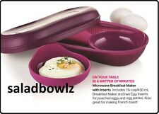 TUPPERWARE MICROWAVE BREAKFAST MAKER SET w/ EGG INSERTS Omelets or Poached Eggs