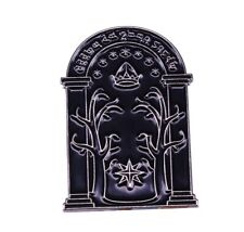 Lord Of The Rings Speak Friend & Enter Door Pin Badge Tolkien Gift - Brand New
