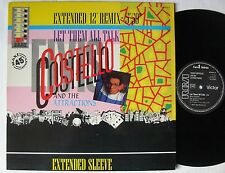"""ELVIS COSTELLO AND THE ATTRACTIONS (MAXI 45T 12"""") LET THEM ALL TALK"""