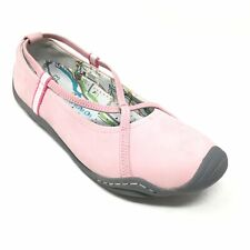 Women's J-41 Soy Loafers Shoes Size 7.5M Pink Leather Outdoor Casual Trail E4