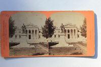 Marsiglia Francia Foto Stereo Neurdein di Carta Vintage Verso 1875